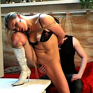 Seductive Blond Bondage