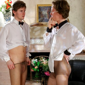 Gay Pantyhose Tobias Morgan